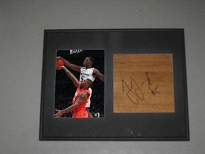 Justin Jackson Cincinnati Bearcats Signed Framed Basketball 6X6 Floorboard COA - Autographed College Floorboards