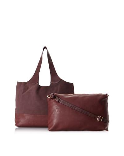 Shiraleah Women's Verena Tote & Shoulder Bag Set, Burgundy