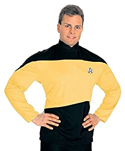Medium Star Trek Next Generation TNG Gold Costume Shirt