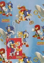 Sonic The Hedgehog Gift Wrap & Tags