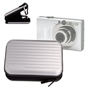 Stabile Kamerahülle mit Karabinerhaken für Canon IXUS 125 HS Digitalkamera