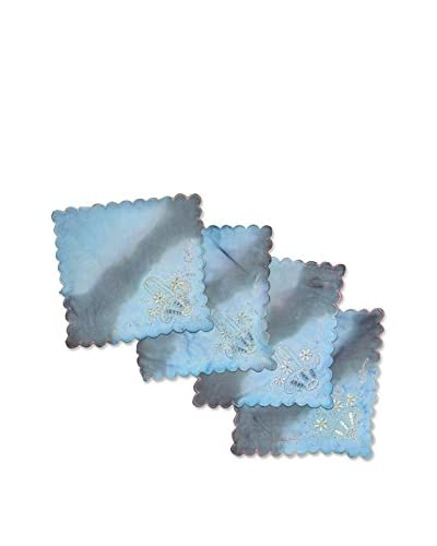 Uptown Down Set of 4 One-of-a-Kind Hand-Dyed Coasters