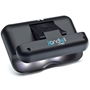 Kandle by Ozeri II LED Book Light in Black — Designed for the Amazon Kindle (fits latest generation Kindle and all models), and other eBook readers