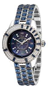 Christian Dior Women's CD11311GM001 Christal Diamond Blue Dial Watch