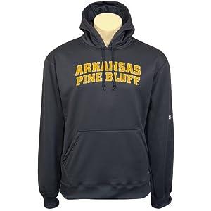 Arkansas Pine Bluff Under Armour Black Performance Sweats Team Hood