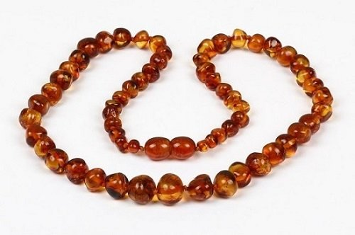 Bouncy Baby Boutiquetm - An14 - Adult Honey Certified Authentic Baltic Amber Healing Necklace front-818555