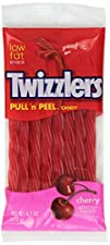 Twizzlers Pull n Peel Candy Cherry 6.1-Ounce Packages Pack of 12