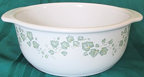 Corell Coordinates Callaway Stoneware Ivy Pattern Casserole - 2-1/2 Qt - No Lid (Corelle Dishes Ivy Pattern compare prices)
