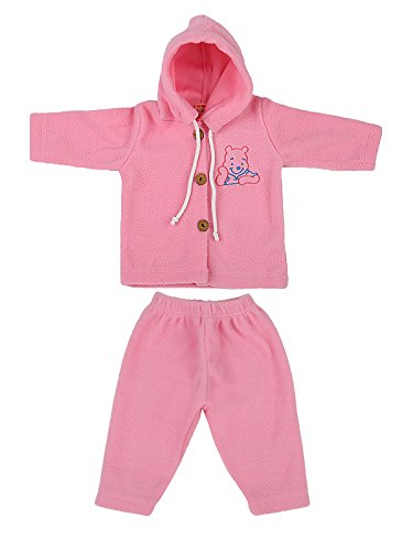 And Mykid Baby Hooded Sweatshirt And Pant - Pink (Multicolor)