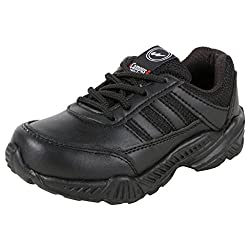 Action Campus Baby Kids 2 to 4 Years Black Ultra Light School Shoes, 9CUK