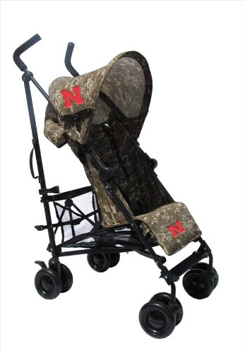 University Of Nebraska Camouflage Umbrella Stroller front-37222