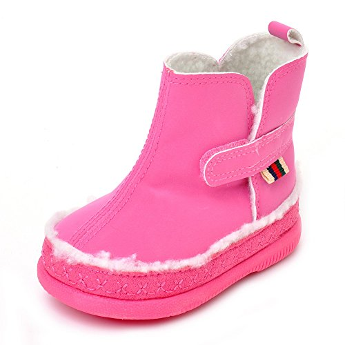 Estamico Baby Girls Fleece Faux Leather Boots US 4