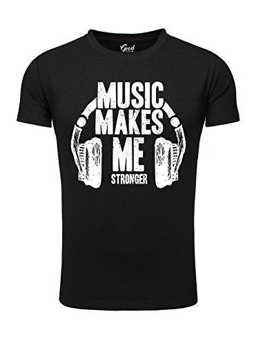 Goodflow-Mnner-T-Shirt-kurzarm-DJ-T-Shirt-Music-Print