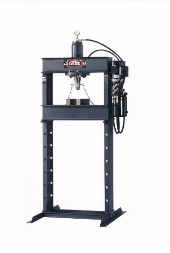 "Dake Force 25Da Model Electrically Operated Hydraulic Dura Press, 25 Ton Capacity, 110V, 1 Phase, 30"" Length X 38"" Width X 88"" Height"