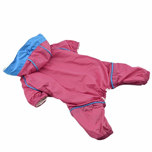 Sturm Hoodie Hund Regenmantel Haustier RegenJacke Wasserdicht Kleidung -