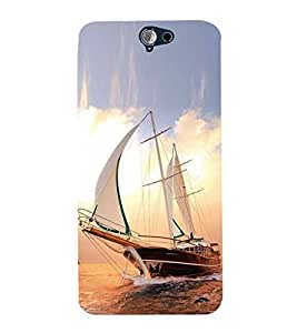 Vizagbeats Sailing Ship Back Case Cover for HTC One A9