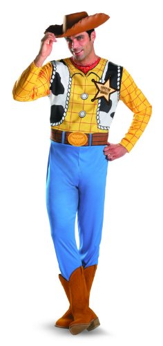 Disguise Men's Disney Pixar Toy Story and Beyond Woody Classic Costume