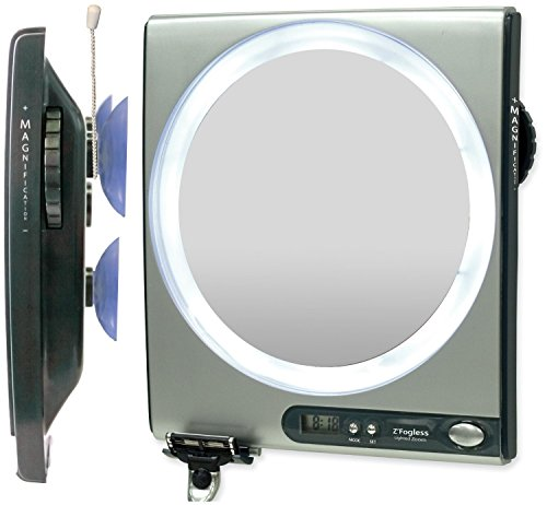 Zadro 5X - 1X Fogless Shower Mirror, Silver Finish front-766154
