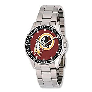 Nfl Officially Licensed Washington Redskins Watch Coach W  Stainless Steel Band by NFL Officially Licensed
