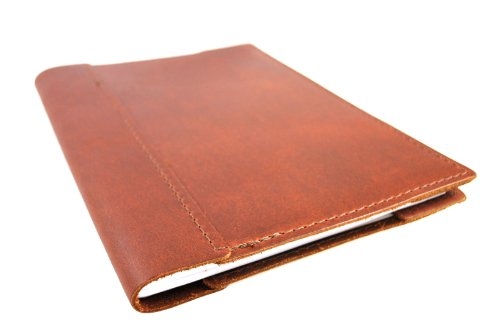 Refillable Top Grain Leather Composition Notebook