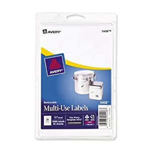 Amazoncom avery removable print or write labels for for Avery 5408 template