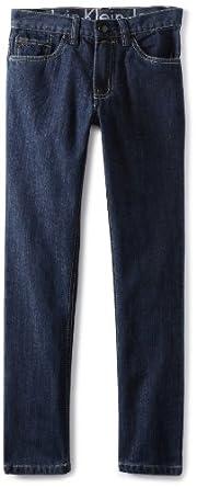 Calvin Klein Big Boys' Ck 5 Pocket Denim Jean, Indigo, 8