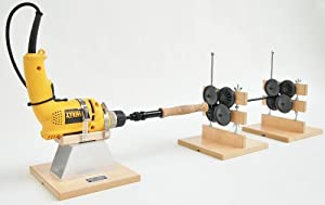 RL100 Flex Coat Cork Lathe Set Up - Drill Stand w/2 Roller Supports