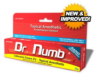 dr. numb 1 Tube of Dr. Numb Maximum Topical Anesthetic Anorectal Cream, Lidocaine 5% ~ Net Wt 1 Oz (30g) at Sears.com