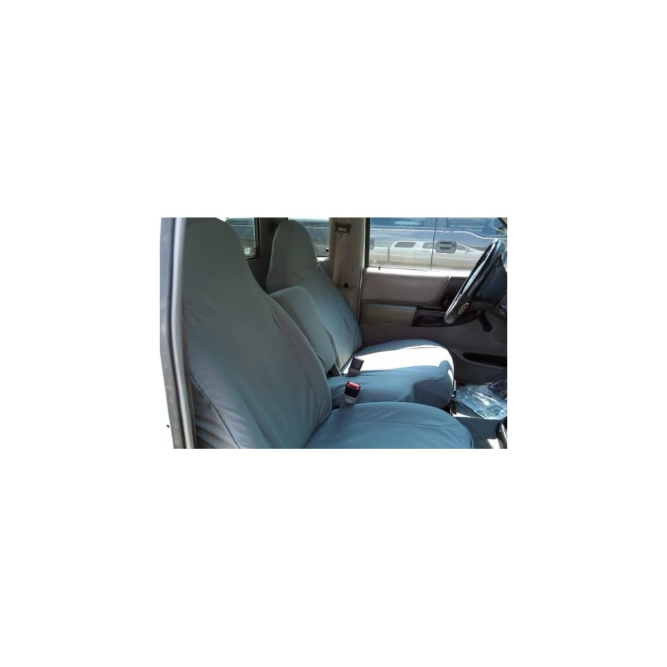 Exact Seat Covers, F282 X7, 1998 2001 Ford Ranger XLT Exact Fit Seat Covers, Gray Twill