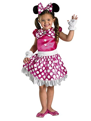 Disney Toddler & Little Girls Minnie Mouse Costume with Pink Dress & Headband