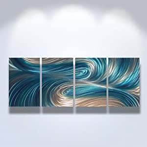 Amazon.com - Metal Wall Art, Modern Home Decor, Abstract Artwork ...