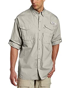 Columbia Men's Bonehead Long Sleeve Shirt,Fossil,Small