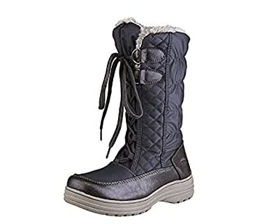 Totes Women's Corina Wide Width Winter Boots - Pewter