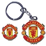 Man Utd Crest Keyring & Pin Badge Set