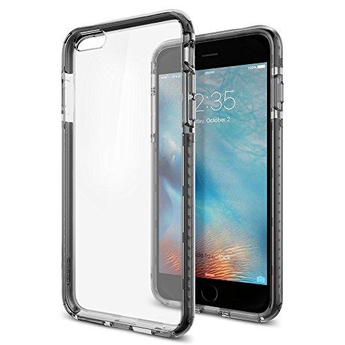 【Spigen】iPhone6s Plus ケース / iPhone6 Plus ケース, ウルトラ・ハイブリッド テック [ 背面 クリア ] アイフォン6s プラス 用 米軍MIL規格取得  (クリスタル・ブラック SGP11649)