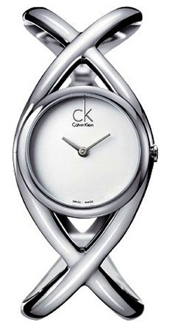 Calvin Klein K2L24120 Watch Enlace Ladies - Silver Dial Stainless Steel Case Quartz Movement