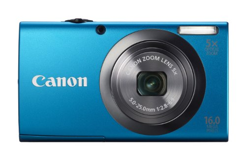 Canon PowerShot A2300 16.0 MP Digital Camera with 5x Digital Image Stabilized Zoom 28mm Wide-Angle Lens with 720p HD Video Recording (Blue)