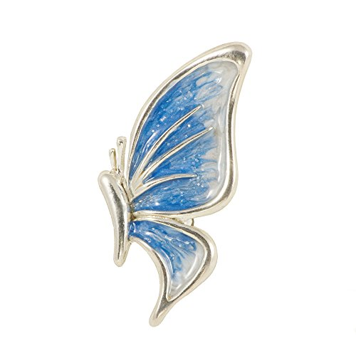 broche de mariposa con esmalte azul