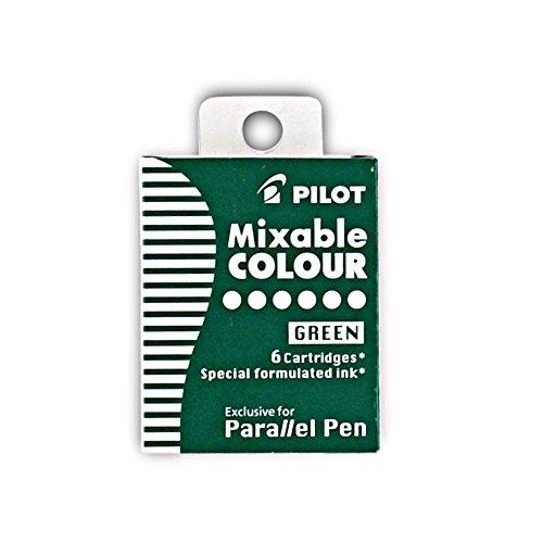 Pilot Parallel Lot de 6 recharges de stylo Vert