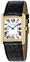 Cartier Women's W5200004 Tank Solo 18kt Yellow Gold Case Watch by Cartier