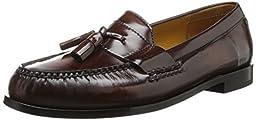 Cole Haan Men\'s Pinch Tassel Loafer, Mahogany, 10 D US