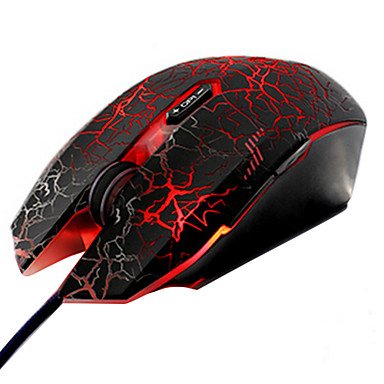 Mch-Wired Usb Professional Super Dazzle Led Gaming Mouse With Mousepad , Red