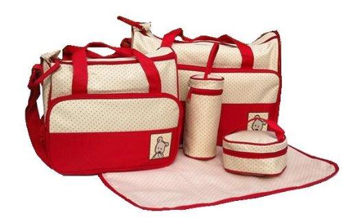 Lot de 5 sacs à langer Rouge