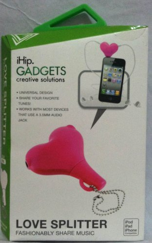 Ihip Love Earphone Splitter Keychain Pink