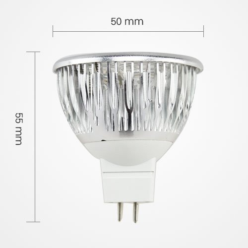 Led Mr16 3W 3X1W Energy Saving Spotlight Lamp Bulb Dc 12V Cool White Equivalent To 30W Traditional Bulb By Goodscity