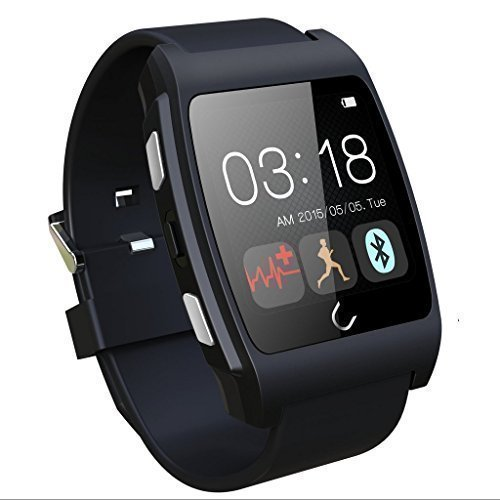 U Watch UX Wrist Waterproof for iPhone 6 Plus 5S 4S Samsung S5 S6 Note 4 HTC Android Phone Smart phone (Black)