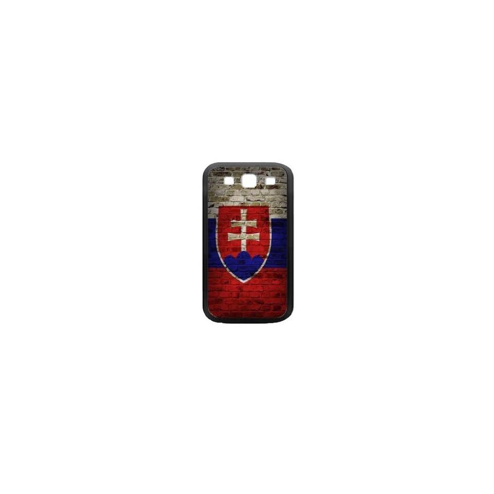 Slovakia Flag Samsung Galaxy S3 Black Case Brick Wall Design