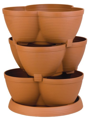 Akro-Mils RZJMEDI Medium Stack-A-Pot, 30-Quart