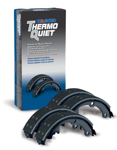 Wagner ThermoQuiet PAB246R Riveted Brake Shoe Set, Front