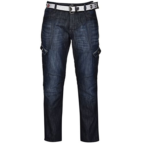 airwalk-mens-belted-cargo-jeans-straight-fit-belt-6-pockets-denim-trousers-pants-dark-wash-38w-r